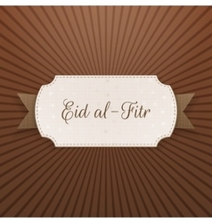 Eid al-Fitr festive decorative Label vector