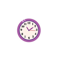 flat analog wall clock icon vector image