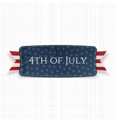 Fourth of July national Label vector