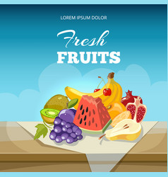 fruits concept background food poster vector image vector image