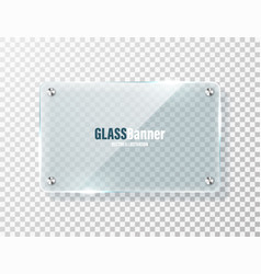 glass frame with metal holder realistic vector image