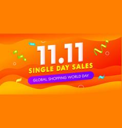 Global shopping world day sale advertising banner vector