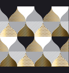 gold luxury geometry pattern vector image