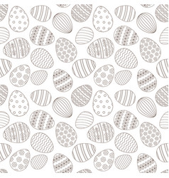 Happy easter greeting seamless pattern vector