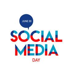 Happy social media day template design vector