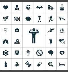 health icons universal set for web and ui vector image