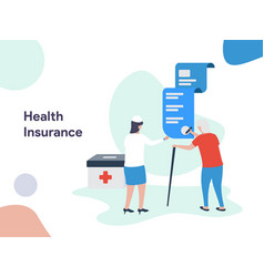 health insurance vector image