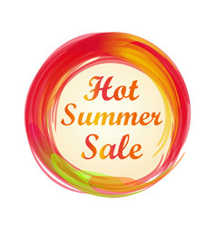 Hot summer sale lettering vector