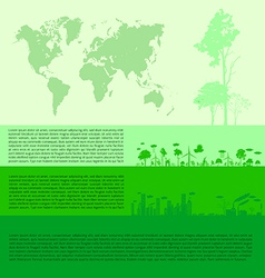 Infographics Green modern city living concept vector