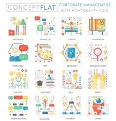 Infographics mini concept corporate management vector