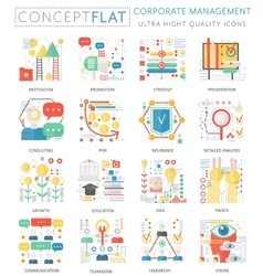 Infographics mini concept corporate managment vector image