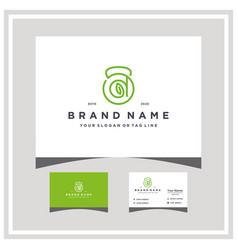 Letter d fitness leaf logo design and business vector