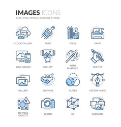 Line Images Icons vector image