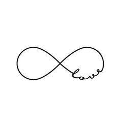 love - infinity symbol repetition and unlimited vector image