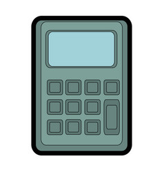 Mathematics calculator cartoon vector