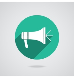 Megaphone icon Loudspeaker isolated vector image