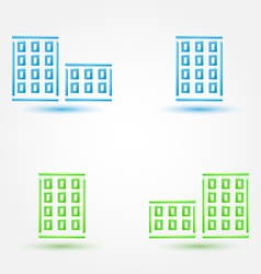 minimal buildings icons - simple house symbol in vector image