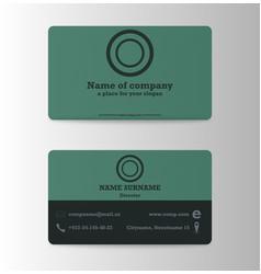 Modern business card print templates personal vector
