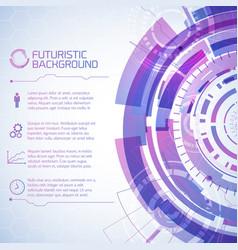 Modern technology conceptual background vector