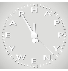 new year paper clock vector image