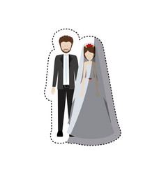 people married couple icon vector image