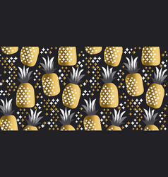 Pineapple luxury gold vector