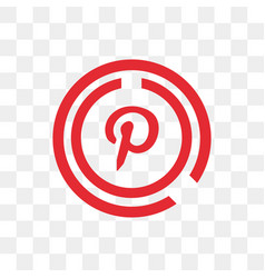 pinterest social media icon design template vector image