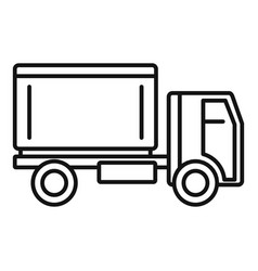 postal service truck icon outline style vector image