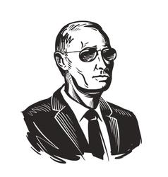 Putin President of Russia vector image