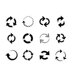 Reload arrows circle arrow connect or recycle vector