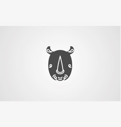 rhinoceros icon sign symbol vector image