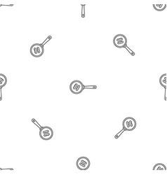sausage fry pan pattern seamless vector image