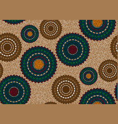 Seamless african wax print fabric ethnic flowers vector