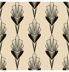 Seamless antique pattern geometric art deco vector image