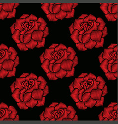 Seamless pattern of rose vector