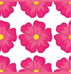 Seamless pattern tile cartoon with pink flower vector