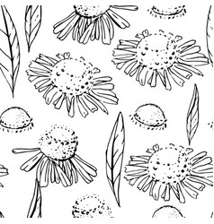 Seamless pattern with floral ornament endless vector