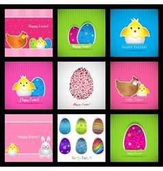 set easter cards vector image