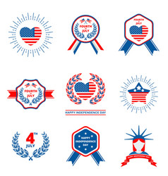 set of badge for independence day of usa vector image