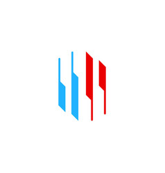 shape stripe ventilator business logo vector image