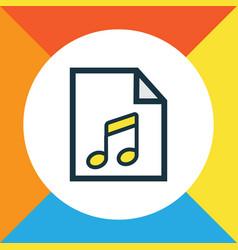 Soundtrack colorful outline symbol premium vector