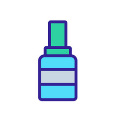 Striped grease bottle icon outline vector