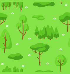 Summer seamless pettern with forest trees vector