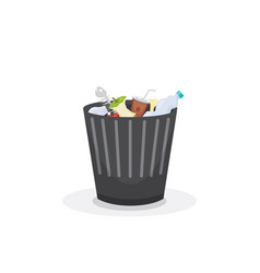 Trash bin garbage container and trash bin recycle vector