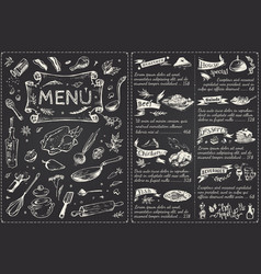 Vintage menu main page design hand drawn vector