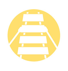 xylophone musical instrument icon vector image
