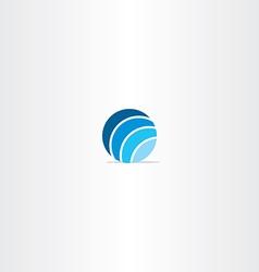 blue circle globe logo vector image