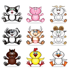 funny pet animals vector image