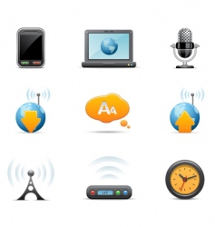multi media icons vector image