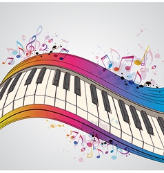 Music bright background with piano vector image vector image
